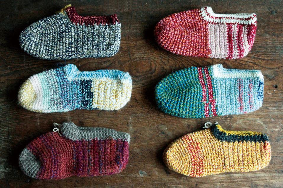 マサエおばあさんの手編みくつ下展