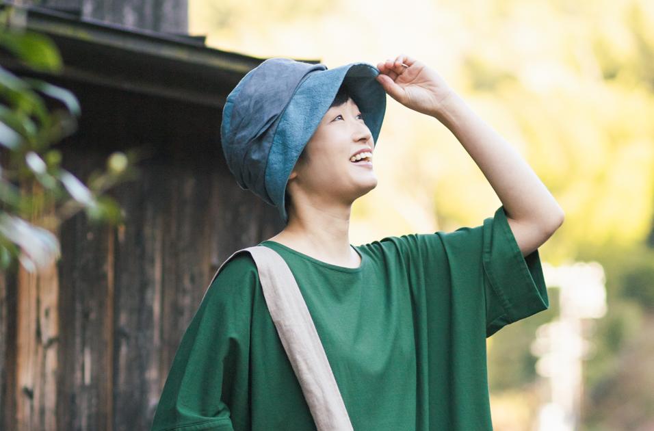 お洋服に馴染む、ナチュラル帽子