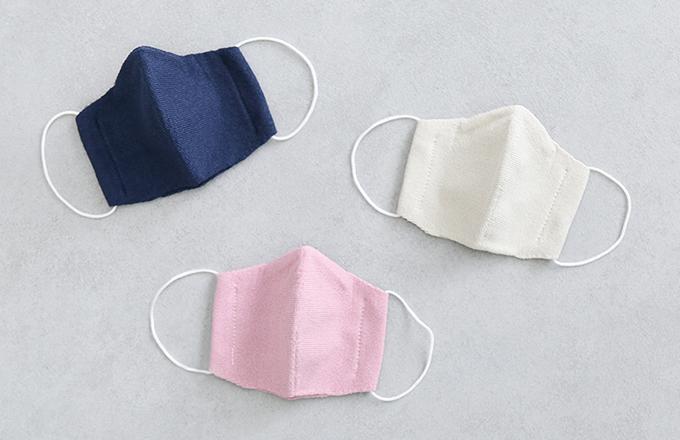 帽子屋さんが編んだ洗って使える和紙マスク